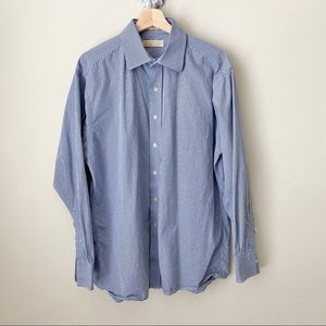 MICHAEL Micheal Kors blue button down shirt